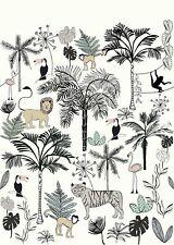 Rasch Tapete 842173 Bambino XVIII Wandbild Tiere Dschungel Kinderzimmer