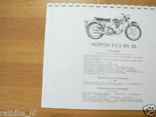 N0308 NORTON---TECHNICAL INFO MOTOR---ES2 + 50-MODELYEAR ABOUT--1931-55-