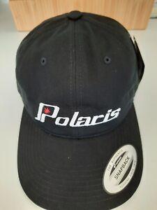 POLARIS HERITAGE CAP - Black-  Brass Buckle Closure -Cap Hat  - Brand New