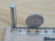 NEODYMIUM/RARE EARTH DISC MAGNET - 10 LOT - 6mm x 3mm