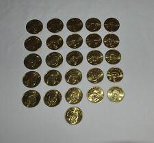 26 Coin Set Brass Slammer MLB 1992 Sports Stars Collectors Coins Kirby Puckett