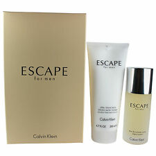 Escape Calvin Klein MEN Gift Set - EDT Spray 3.4oz + 6.7oz Aftershave Balm