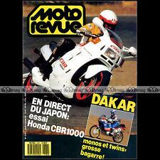 MOTO REVUE N°2781 HONDA CBR 1000 MORINI EXCALIBUR HUSQVARNA 125 WRK PARIS-DAKAR
