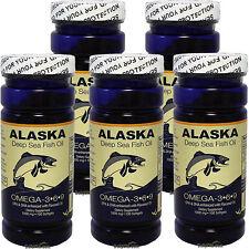 5 X100 Alaska Deep Sea Fish Oil Omega-3,6,9, EPA/DHA Flaxseed Oil, FRESH