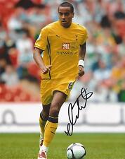 TOTTENHAM * TOM HUDDLESTONE SIGNED 10x8 ACTION PHOTO+COA