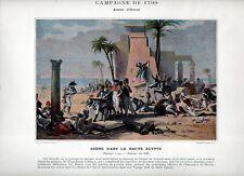 Stampa antica NAPOLEONE BONAPARTE 1799 DENON in EGITTO Egypt 1890 Old print