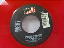 "RUN D M C ""CHRISTMAS IN HOLLIS / SWEET TEE ""LET JINGLE BELLS "" 45 RED VINYL MINT"