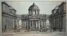 17th Century Antique Original Etching, Architectural, Marot, COA