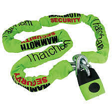MOTORCYCLE MAMMOTH SCURITY THATCHAM APPROVED LOCK AND CHAIN