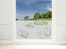 Sichtschutzfolie Küche + Gemüse Fensterfolie Küchenfenster Glastür blickdicht