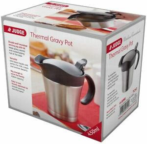 Judge Thermal Gravy Pot Stainless Steel 450ml Double Wall Insulated Jug TC347