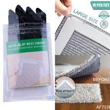 16Pcs/Set Reusable Carpet Rug Grippers Corner Area Rubber Anti Curling Non Slip
