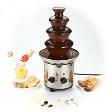 Stainless Steel 4 tiers Home Chocolate Fountains Mini Chocolate Fondue Fountain