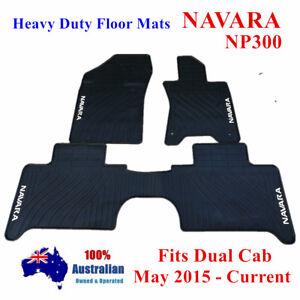 Heavy Duty Rubber Floor Mats Tailored for Nissan NAVARA D23 NP300 05/2015 - 2021
