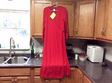 QVC RED LAUREN SARA CLASSICS WRAP DRESS Womens Size LARGE