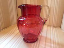 Antique Ruby Glass Jug