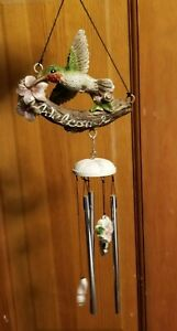 """Carson 15"""" Hummingbird """"Welcome"""" Garden Chime"""