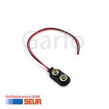 Conector Soporte con Cable de 12cm para Pila de 9V Clip de bateria