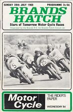 Brands Hatch Stars of Tomorrow Motor Cycle Race Programme July 1968