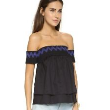 Rebecca Minkoff Off The Shoulder Top Womens Size Large Black
