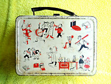 ANTIQUE/VINTAGE1057 AMERICAN TEENAGER JUNIOR HIGH BAND SCHOOL DAYS TIN LUNCH BOX