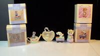 Lot of Four Vintage Hallmark Keepsake Spring Easter Ornaments in Box 1992 - 1994