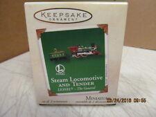 2002 Hallmark Keepsake Ornament #Qxm4366 Steam Locomotive and Tender Mini