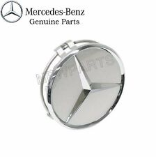 For MercedesW203 W204 Center Hub Cap for Alloy WheelBurnished Silver Plastic