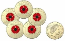 2018 Coloured $2 Remembrance Day Armistice Centenary Mint Sachet of 5 Coins