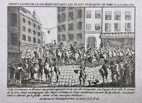 Loi Martiale à Paris 1789 Rare Gravure de la Révolution Française Garde National