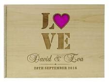 Rustic Wedding  Wood Wedding Guest Book Personalized Name Rustic Guestbook-GB-44