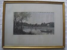 Victorian Print/Water Colour ? Framed by George Davis 7 The Turl, Oxford in VGC