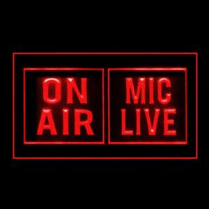 140131 Powerful Media Studio On Air Mic Life Display LED Light Neon Sign