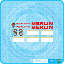 Merlin Racing cicli (UK) Decalcomanie Bicicletta Trasferimenti Adesivi-Set 6