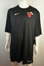 Nike Men's Jersey 4Xt-T Nba Miami Heat Basketball Dri-Fit Black Nwt