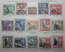 Malta KGVI 1948-53 New Constitution overprints set (21) SG 234-248 Fine Used