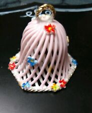 Small Collectors Bell . 2 inches. . pink. . very good condition