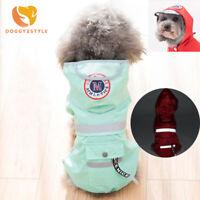 Casual Dog Waterproof Jacket Rain Coat Puppy Cat Hoodie Clothes Pet Supplies