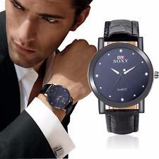 SOXY Herre Uhren Armbanduhren Mode Edelstahl Leder Band Quarz Geschäft Watch