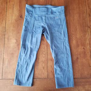Uniquely Lorna Jane Womens Large 7/8 Leggings Yoga Pants Gym Workout L Blue