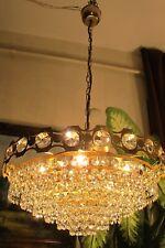 Antique Vnt.BIG French basket  style Swarovski Crystal Chandelier Light 1940's