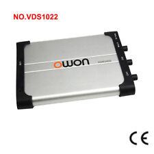 Owon Vds1022 Oscilloscope USB PC Sonde Double Canal 100msa Ipac 25mhz
