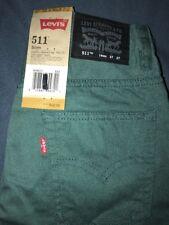 Nwt $42 Levis Jeans Denim 511 Slightly tapered Leg Water log Size 14 Reg 27x27