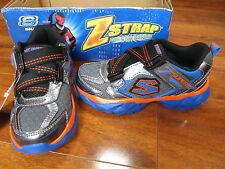 NEW Skechers HYPERSONIC Athletic Shoes Boys 11 Grey/Blue/Orange 95270L $45