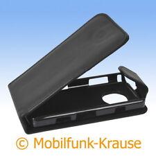Flip Case Etui Handytasche Tasche Hülle f. Nokia Asha 200 (Schwarz)