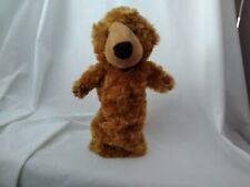 """14"""" cute soft the puppet company brown curly bear closed mouth hand long sleeve"""