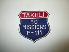 b5445 Vietnam US Air Force F-111  Aardvark 50 Missions Takhli Thailand IR22E