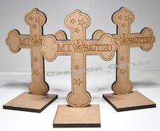 10 X BAPTISM WOOD CROSS FAVORS GIFTS BOY GIRL BAUTIZO RECUERDOS UNISEX CROSSES