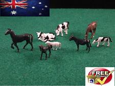8 HO Scale Model Realistic Farm Animals Little People Figures Locomotive 1 87