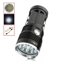 Black 15000LM 9 x CREE XM-L T6 LED 3-Mode SKYRAY Flashlight Outdoor Lamp Torch